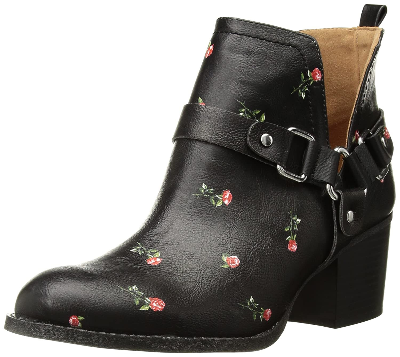 Madden Girl Women's Finian Ankle Boot B074ZD78Q1 9 B(M) US|Black/Multi