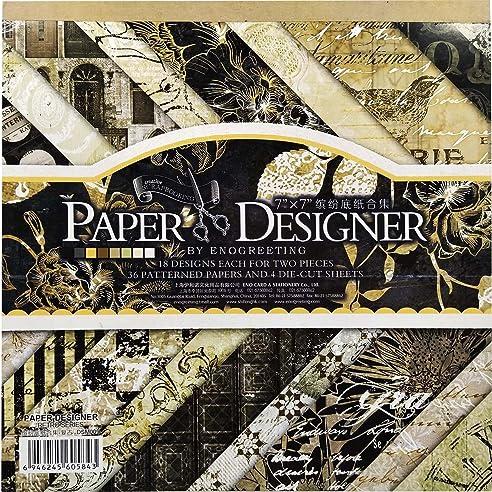Bastelpapier Vintage 40 blatt scrapbooking papier gemustertes karton bastelpapier mit