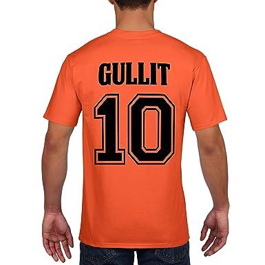 e01e312a8b4c Retro Netherlands Football Shirt Cruyff Van Basten Gullit Rijkaard Cotton T- Shirt 761  Amazon.co.uk  Clothing