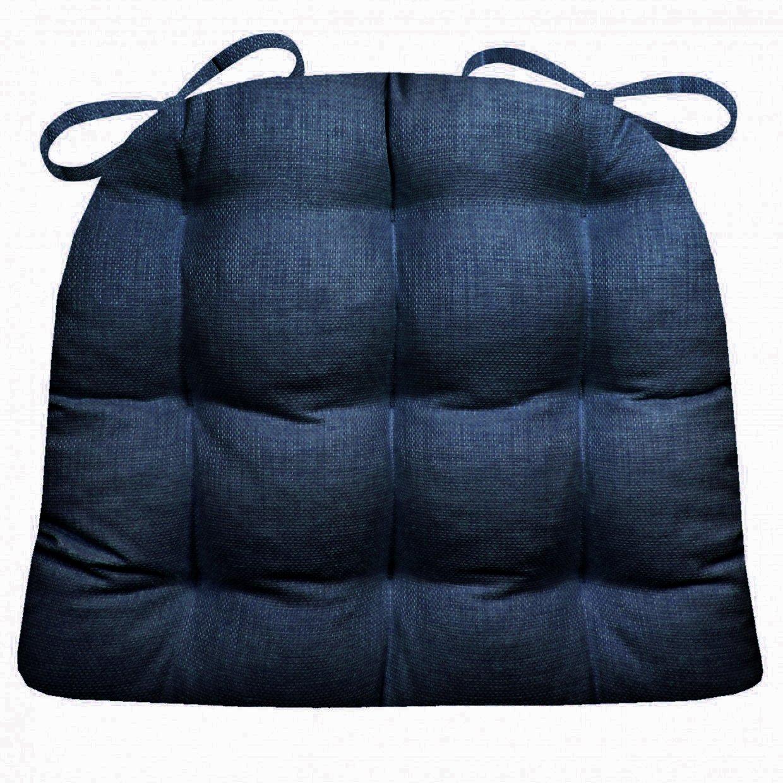 Raveインドア/アウトドアダイニング椅子パッドとパティオ椅子交換用クッション – ラテックスフォームFill M ブルー Medium インディゴブルー B00XD0NKNS