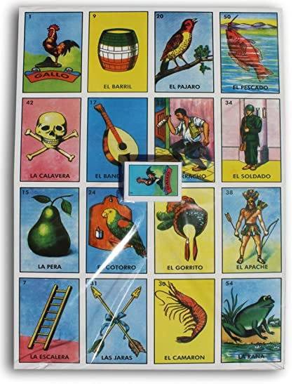 graphic regarding Printable Loteria Mexicana named Tremendous JUMBO LOTERIA MEXICAN BINGO 24\