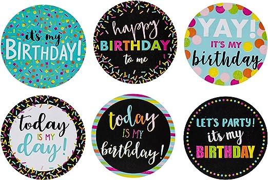 Amazon.com: Feliz cumpleaños pegatinas – 504-piece redondo ...