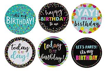 Pegatinas de cumpleaños para cumpleaños, diseño redondo de ...