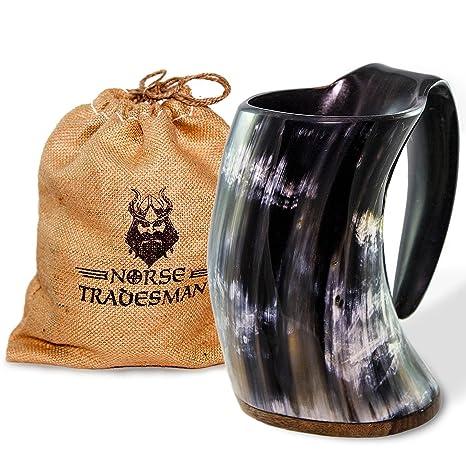 50d9a7778b564 Norse Tradesman Original Viking Drinking Horn Mug - 100% Authentic Beer  Horn Tankard w/