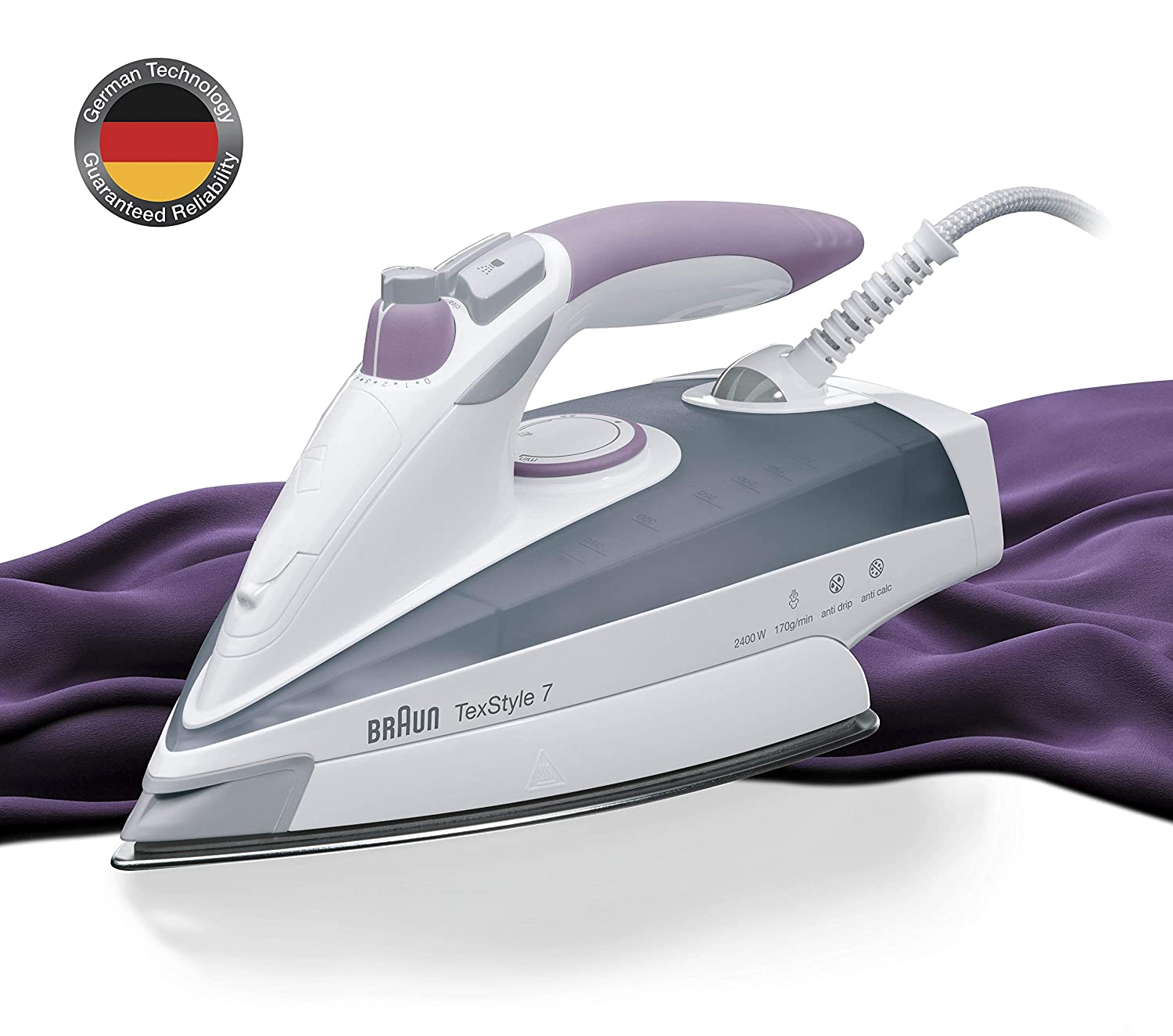 Braun TexStyle 7 TS755A Steam Iron - Grey 0X12711023
