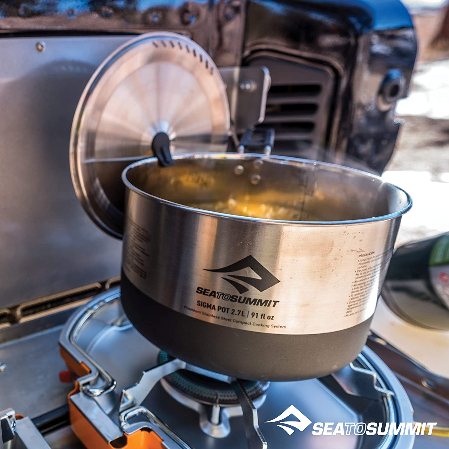 Amazon.com : Sea to Summit Sigma Stainless Steel Camping Pot Set 2.0, 2 Pot Set : Sports & Outdoors