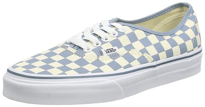 Vans Unisex-Erwachsene Authentic Low-top Weiß hellblau kariert