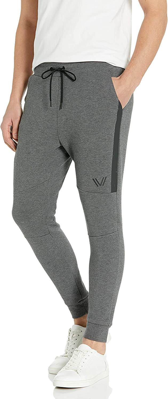 Amazon Brand - Peak Velocity Men's Metro Fleece 'Build Your Own' Jogger Sweatpants (S-3XL, Loose, Athletic, Fitted)