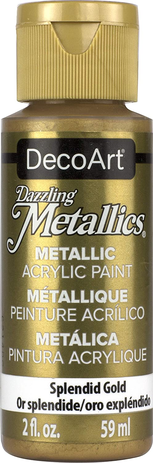 DecoArt Dazzling Metallics 2-Ounce Splendid Gold Acrylic Paint