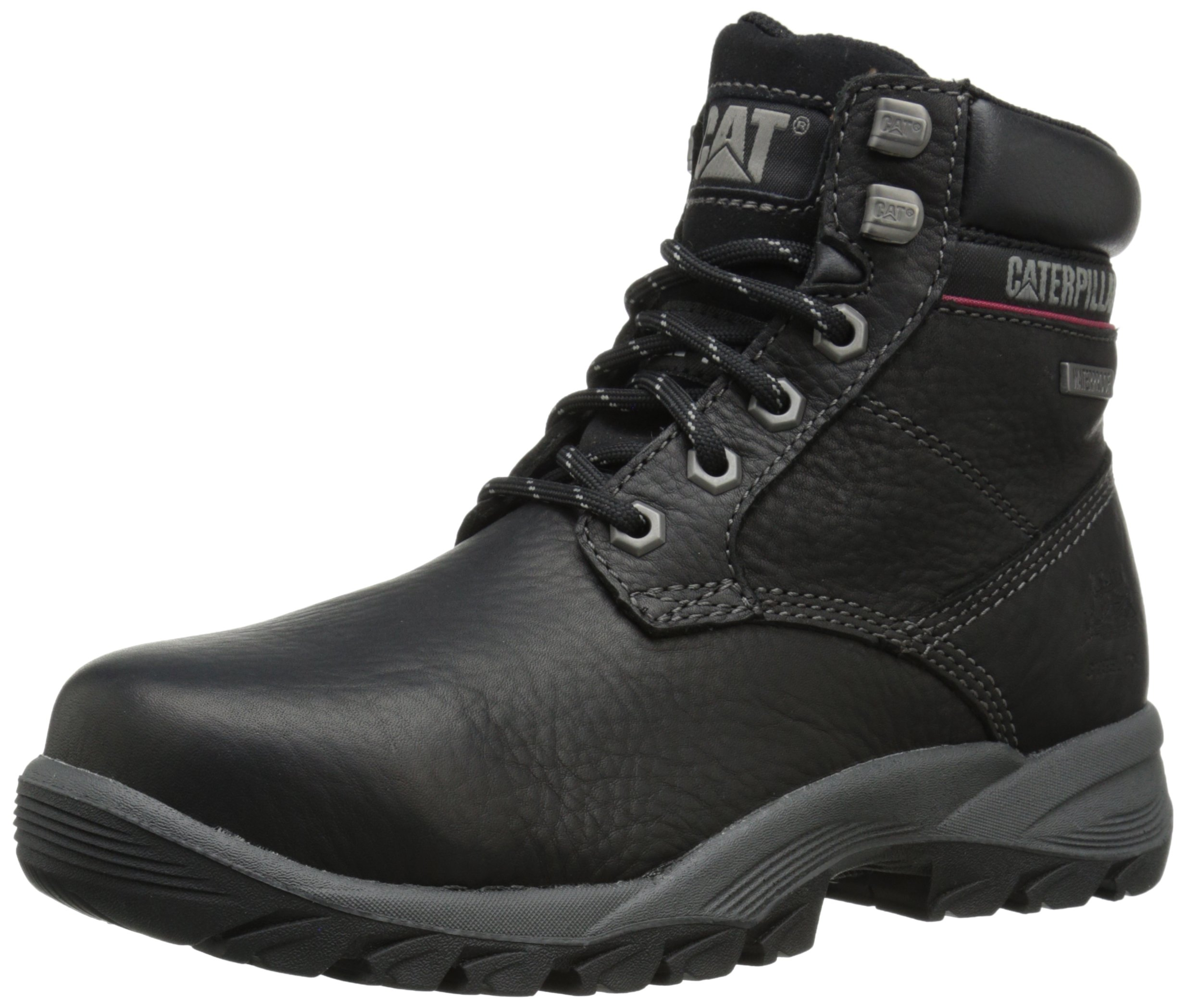 Caterpillar Women's Dryverse 6 Inch Waterproof Steel Toe Work Boot, Black, 8 M US