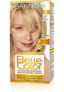 garnier belle color coloration permanente blond 06 blond trs clair naturel lot de - Belle Color Blond Cendr