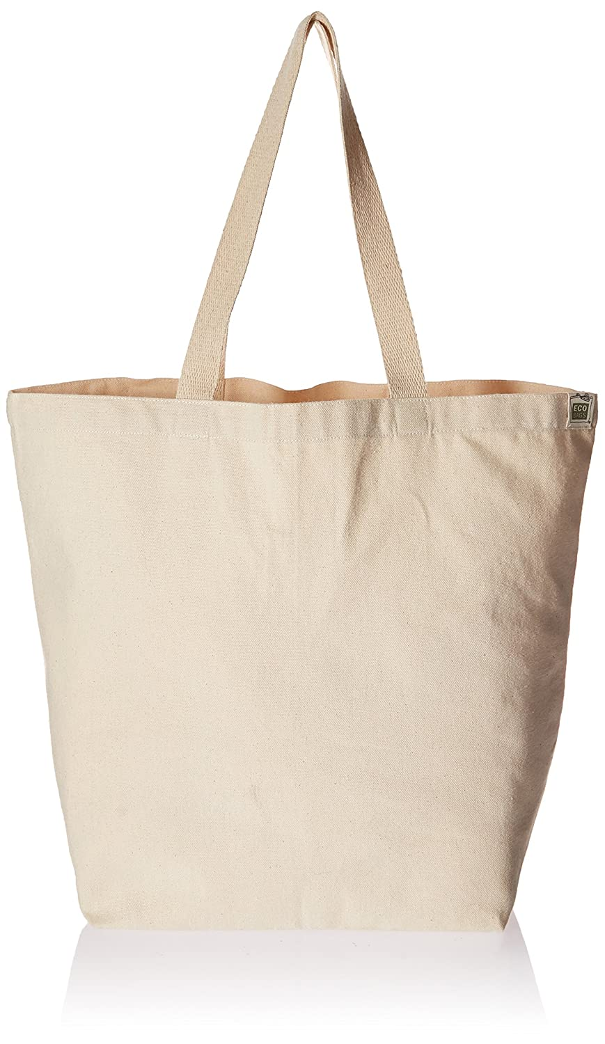 amazon com eco bags products recycled cotton tote natural home