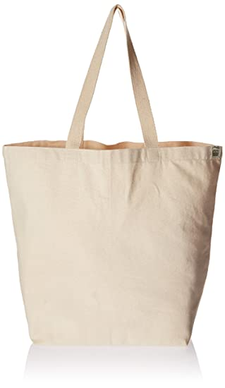Amazon.com: Eco-Bags Products Recycled Cotton Tote, Natural: Home ...
