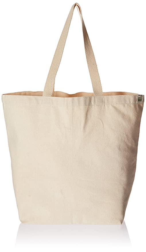 57b6e6824bb Eco-Bags Products Recycled Cotton Tote, Natural