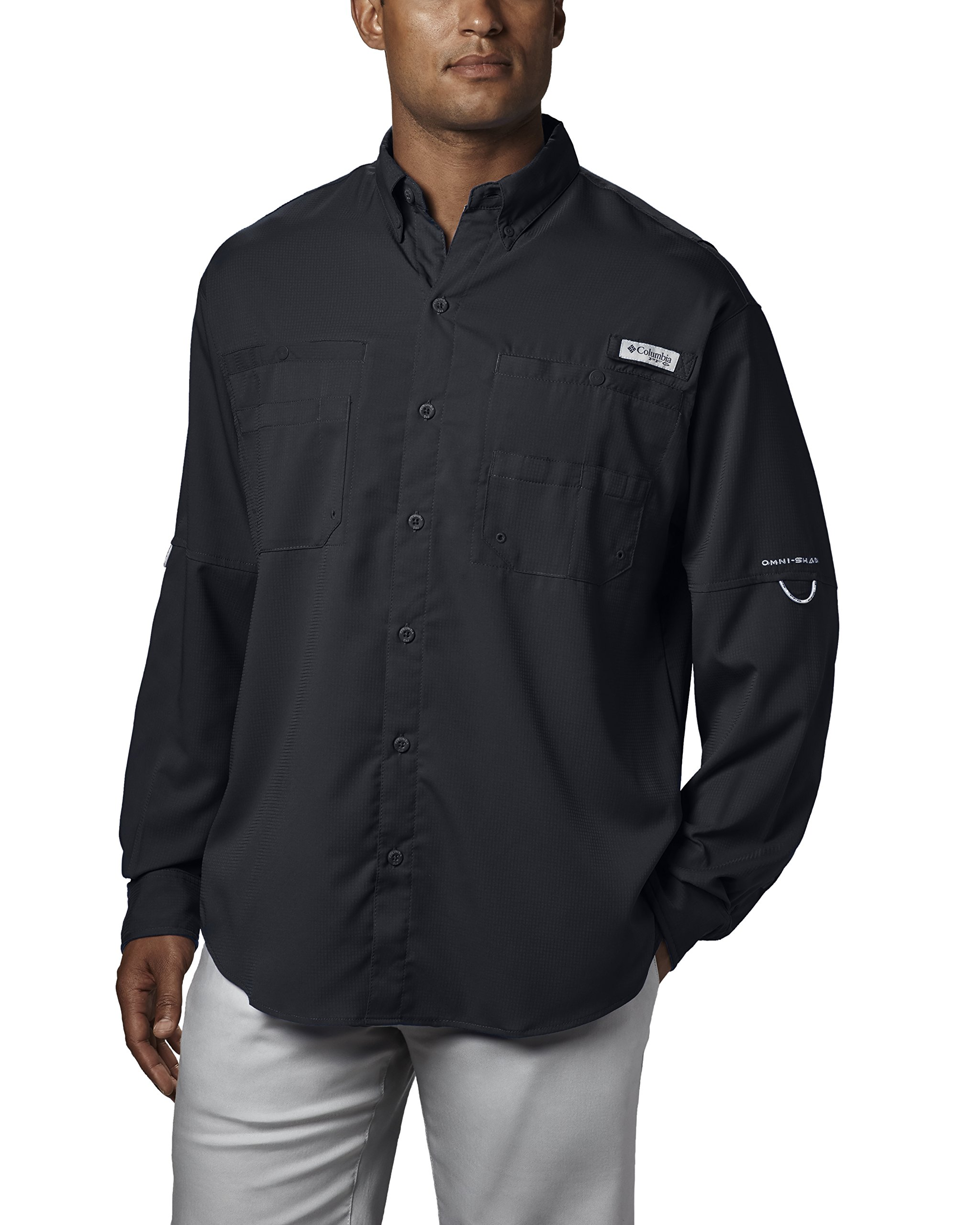 Columbia Men's Plus Tamiami II Long Sleeve Shirt, Black - 2X Big