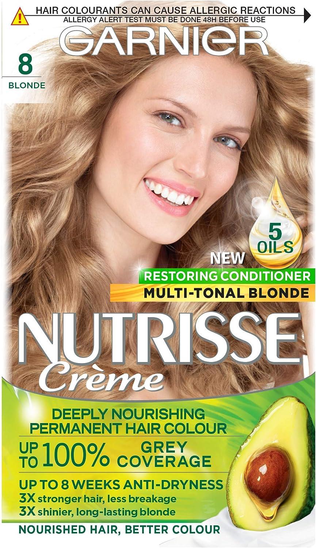 Garnier Nutrisse - Tinte para el cabello permanente, Blonde, Paquete de 3