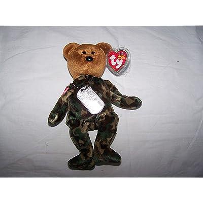 Ty Beanie Babies Hero - USA Bear (Flag on Shoulder): Toys & Games