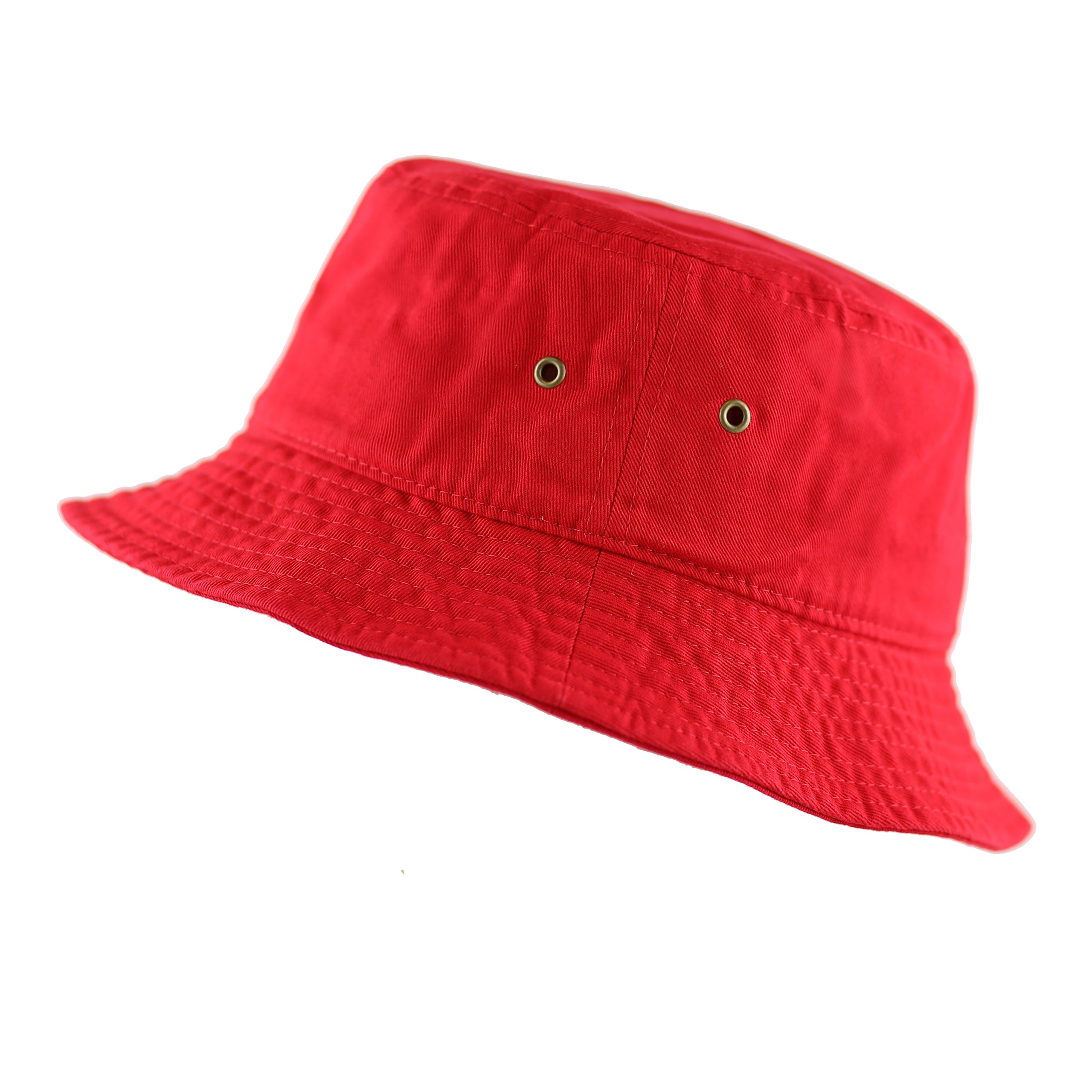 a724c8ed40 THE HAT DEPOT Youth Kids Washed Cotton Packable Bucket Travel Hat Cap  product image