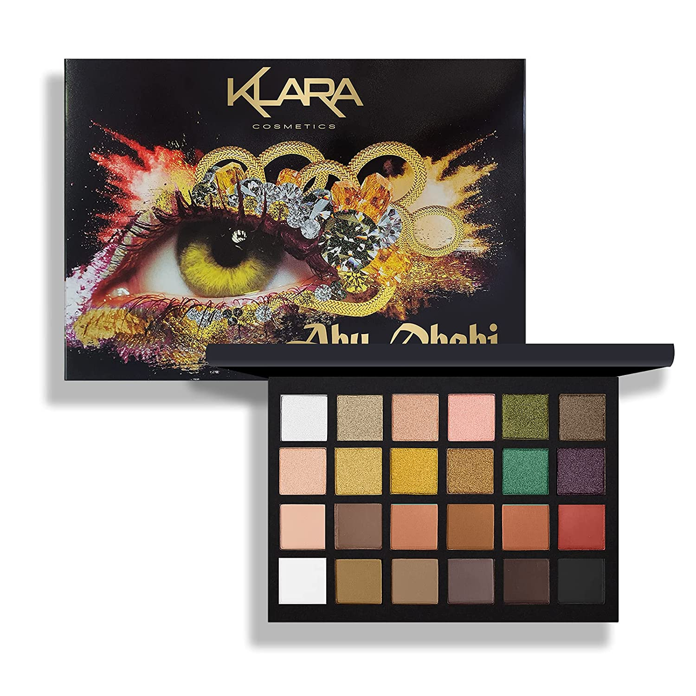 Klara Cosmetics 24 Eyeshadow Palette Abu Dhabi vibrant festive shimmer matte gift collection full color pigment