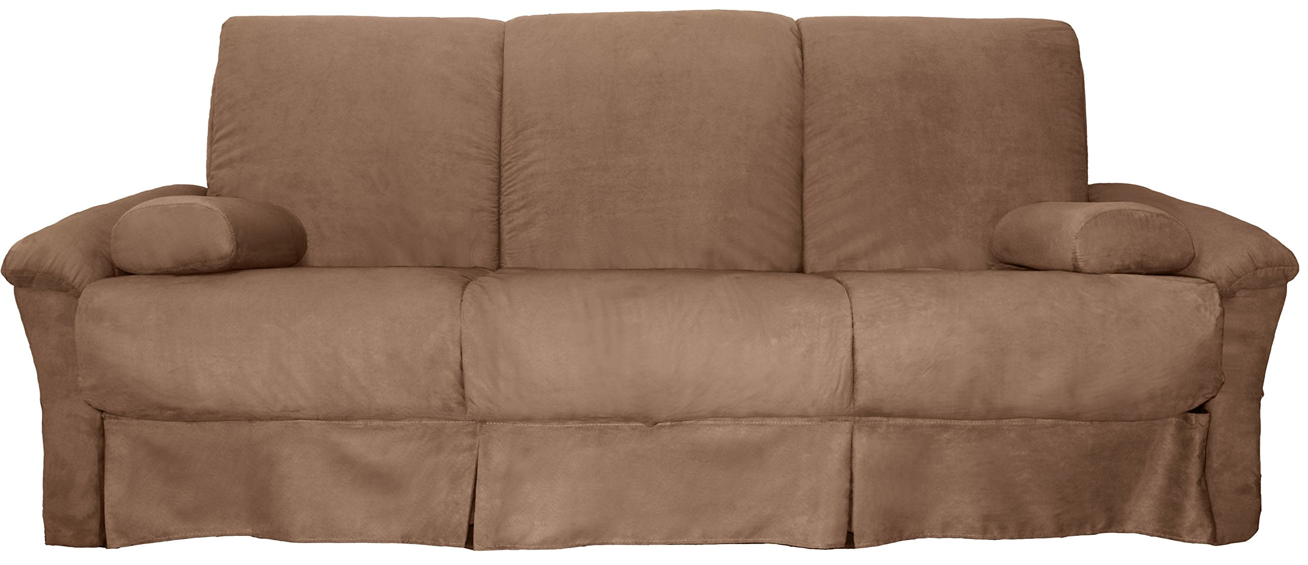 CDM product Tango Perfect Sit & Sleep Pocketed Coil Inner Spring Pillow Top Sofa Sleeper Bed, Full-size, Microfiber Suede Mocha Brown Upholstery big image