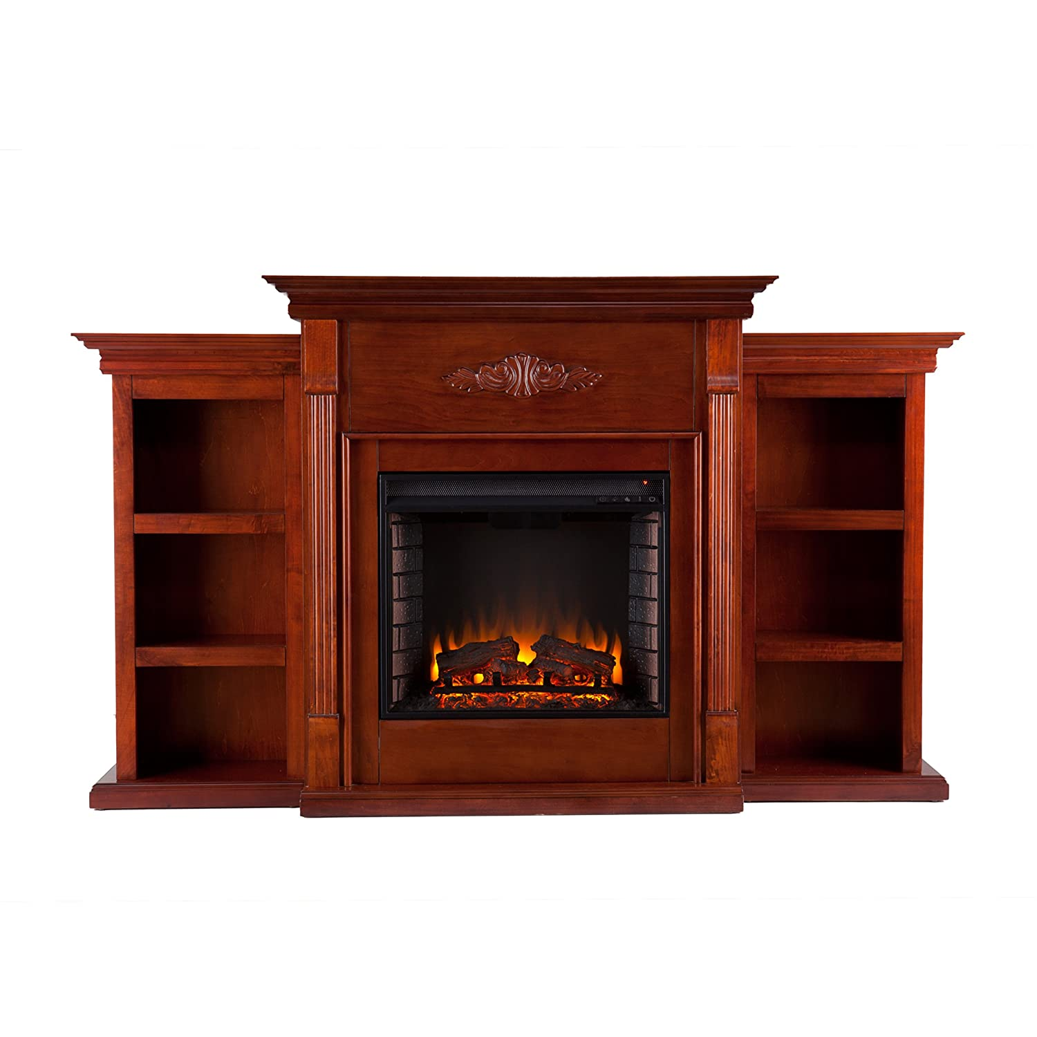 Amazon.com: Southern Enterprises Tennyson Electric Fireplace with ...