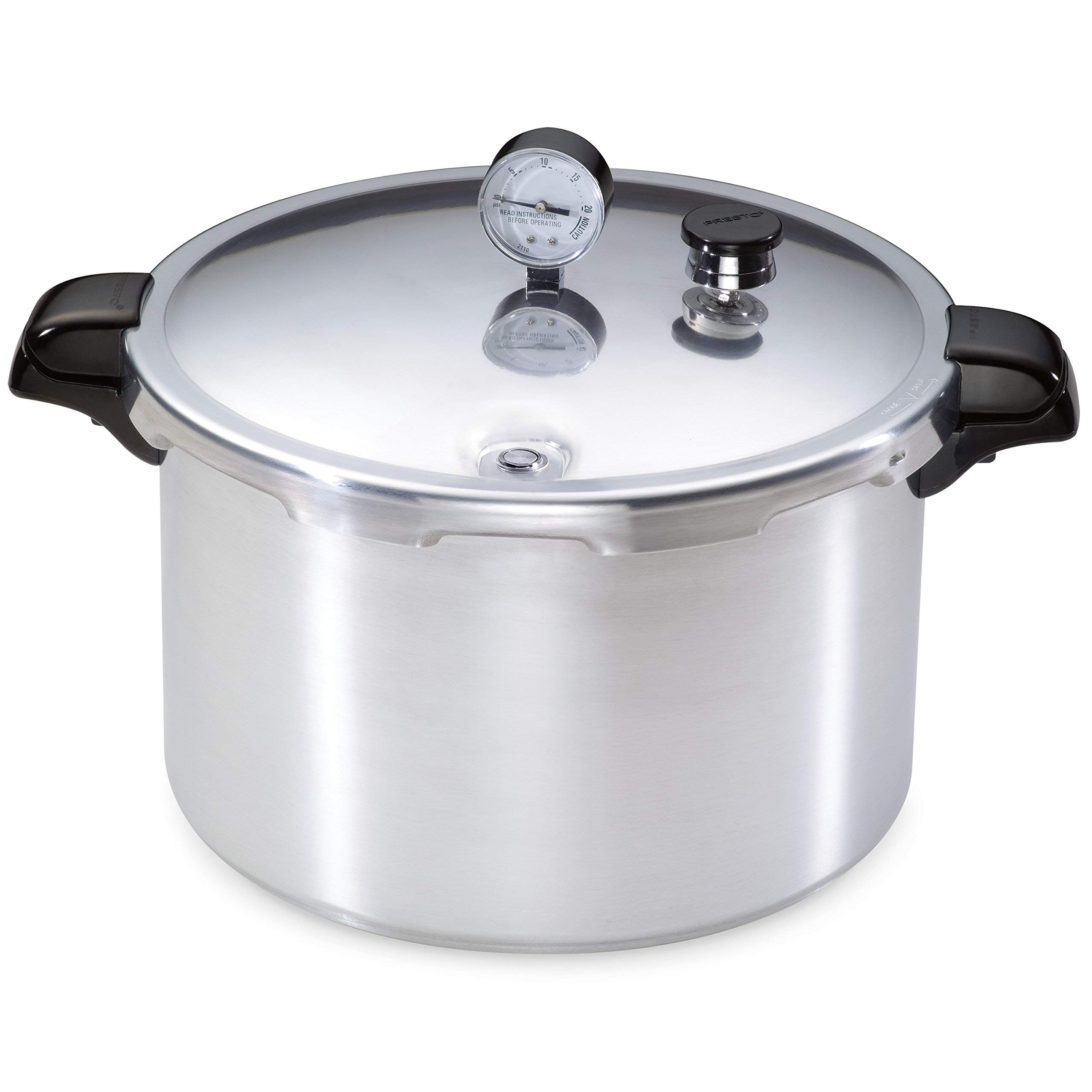Presto 1755 16-Quart Aluminum Pressure Cooker/Canner (Renewed)