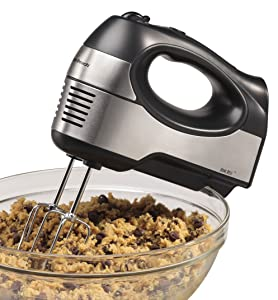 Hamilton Beach 040094626472 6 Speed Hand Mixer with QuickBurst (62647), 1 Stainless Steel