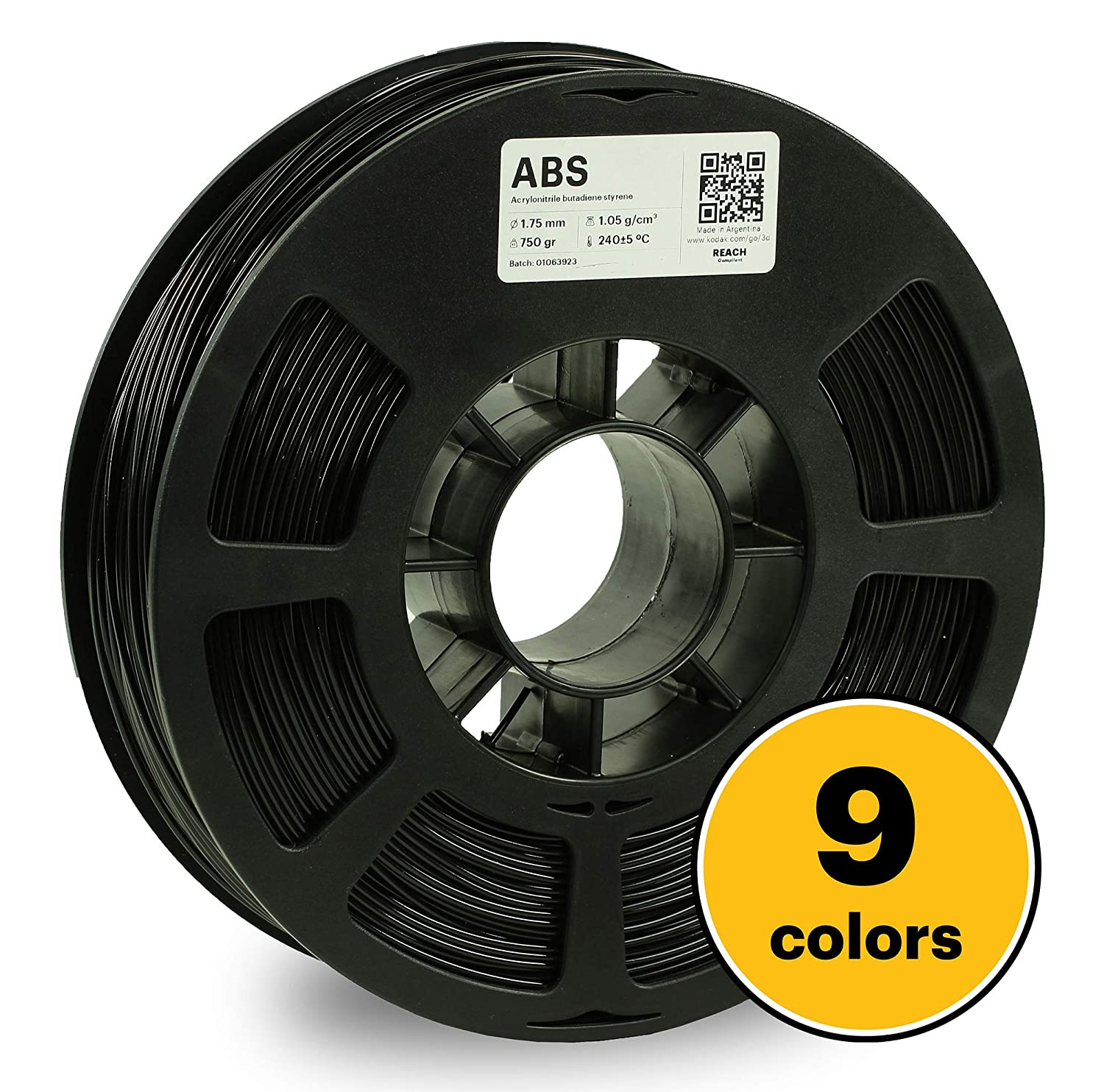 1.7lbs ABS Filament 1.75 Used as 3D Printer Filament to Refill Most FDM Printers KODAK ABS Filament 1.75mm for 3D Printer 750g Spool Green Dimensional Accuracy +//- 0.03mm