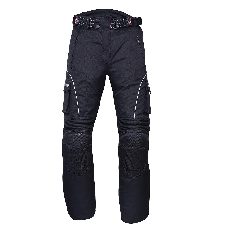 NORMAN Motorrad Wasserdicht Cordura Textil Hose Protektoren Schwarz
