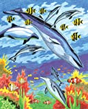 Royal & Langnickel Colour Pencil by Numbers Sea Animals Designed Painting Set