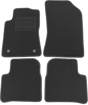 Lusso Floor Carpet Mats for Car Tailored//Compatible to Fit Citroen C3 2017 onwards Black Edging with DELUXE Carpet /& 2 clips Front /& Rear with Heel Pad 4-Piece Set