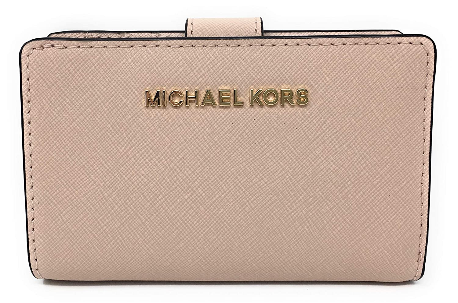 adaf8c3e4ecd Michael Kors Jet Set Travel Saffiano Leather Bifold Zip Coin Wallet  (Ballet) at Amazon Women's Clothing store: