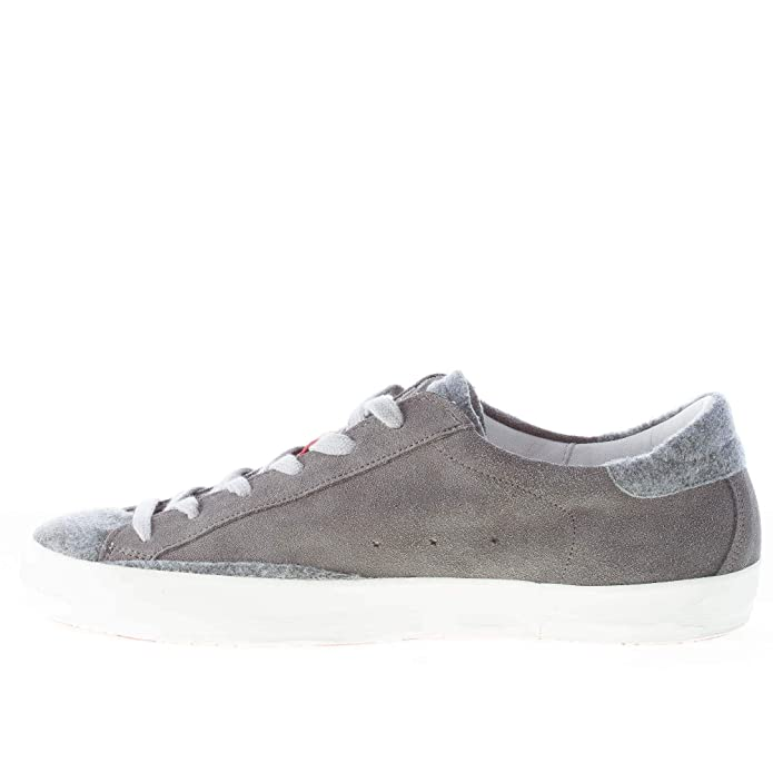 Ishikawa Men Shoes Low 1216 Grey Suede Sneaker with Felt