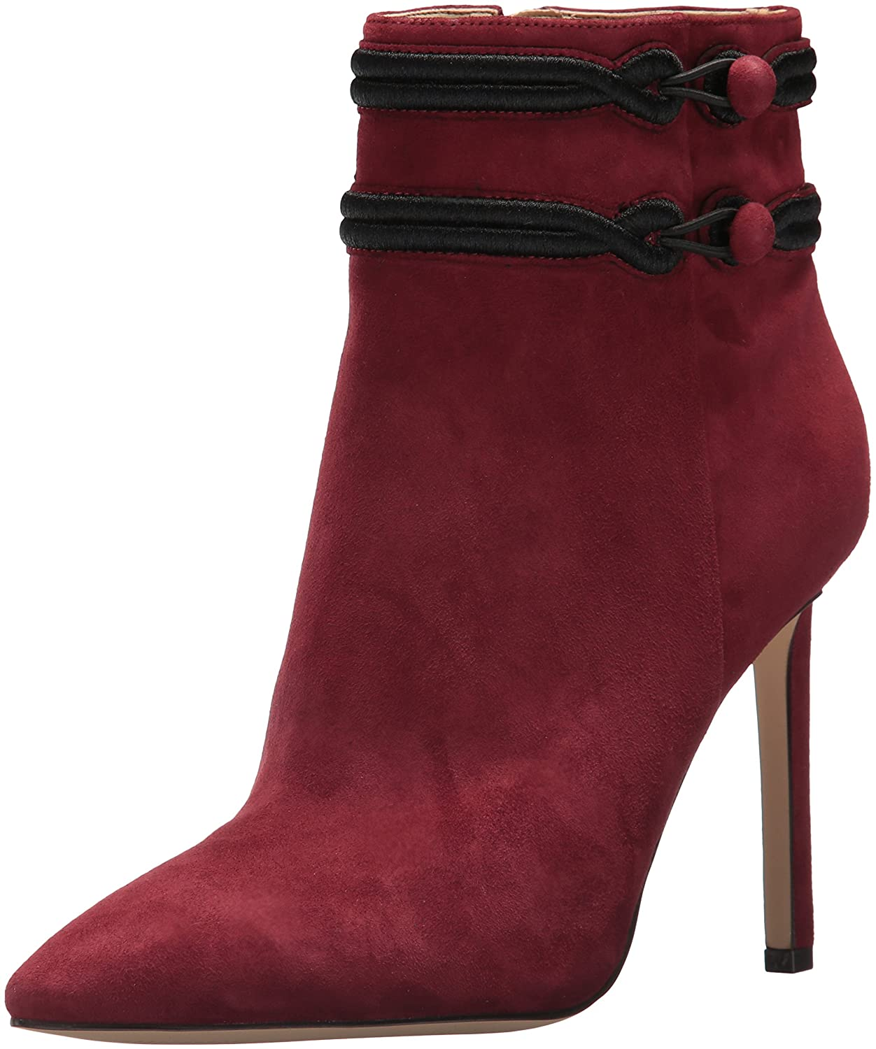 Nine West Women's Teresa Suede Ankle Boot B01N3CSZ5B 11 B(M) US|Wine/Wine