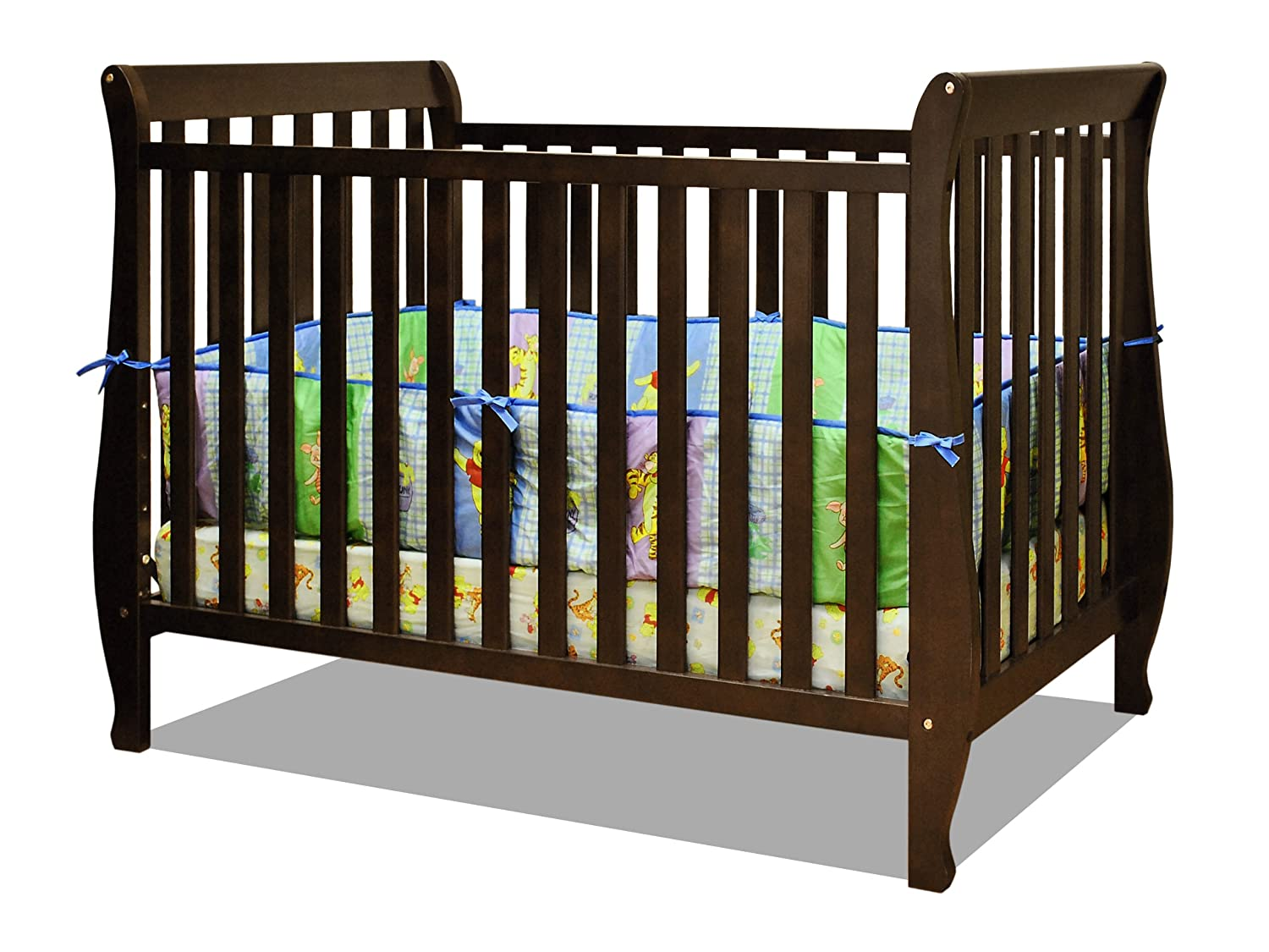 Espresso crib for sale - Amazon Com Athena Naomi 4 In 1 Crib With Toddler Rail Espresso Toddler Beds Baby