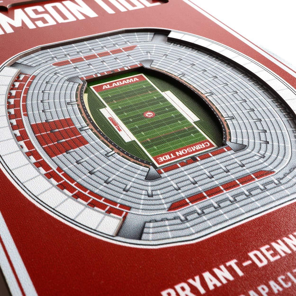 Amazon Com Ncaa Alabama Crimson Tide Bryant Denny Stadium 3d Stadium Banner 8x323d Stadium Banner 8 X 32 Team Colors 8 X 32 Sports Outdoors