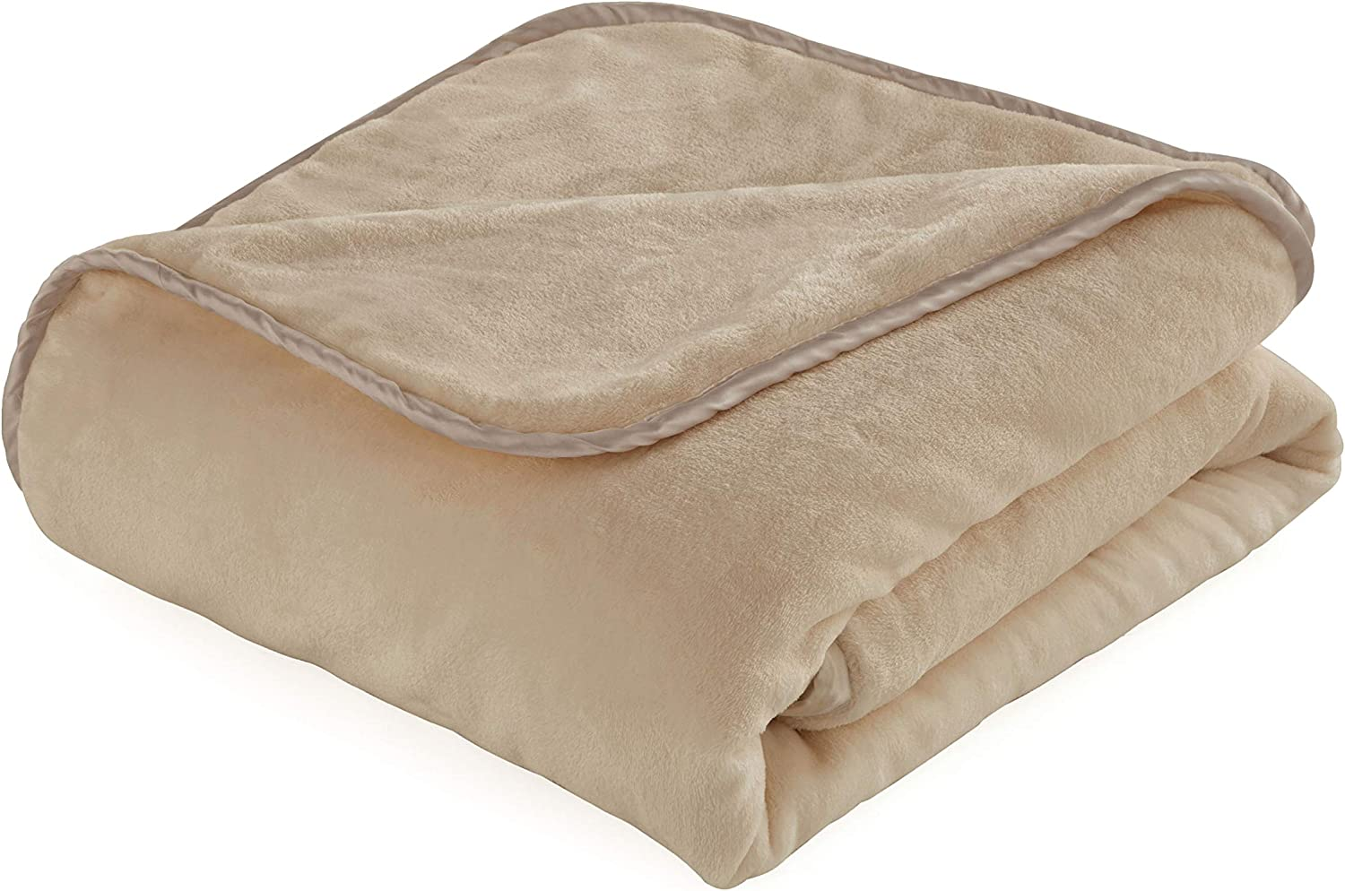 """Vellux Weighted Blanket, 60"""" W x 80"""" L 15 Lbs, Camel"""