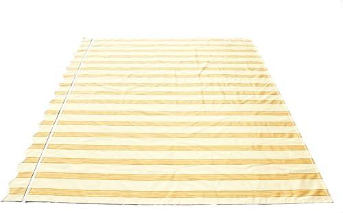 ALEKO FAB10X8MSTYEL315 Retractable Awning Fabric Replacement 10 x 8 Feet Multi-Stripe Yellow