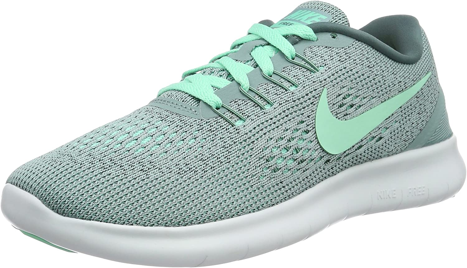 Nike Women s Free RN Running Shoe Cannon Green Glow Hasta Off White Size 7