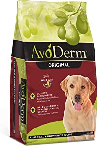 AvoDerm Natural Lamb Meal & Brown Rice Formula Dry Dog Food