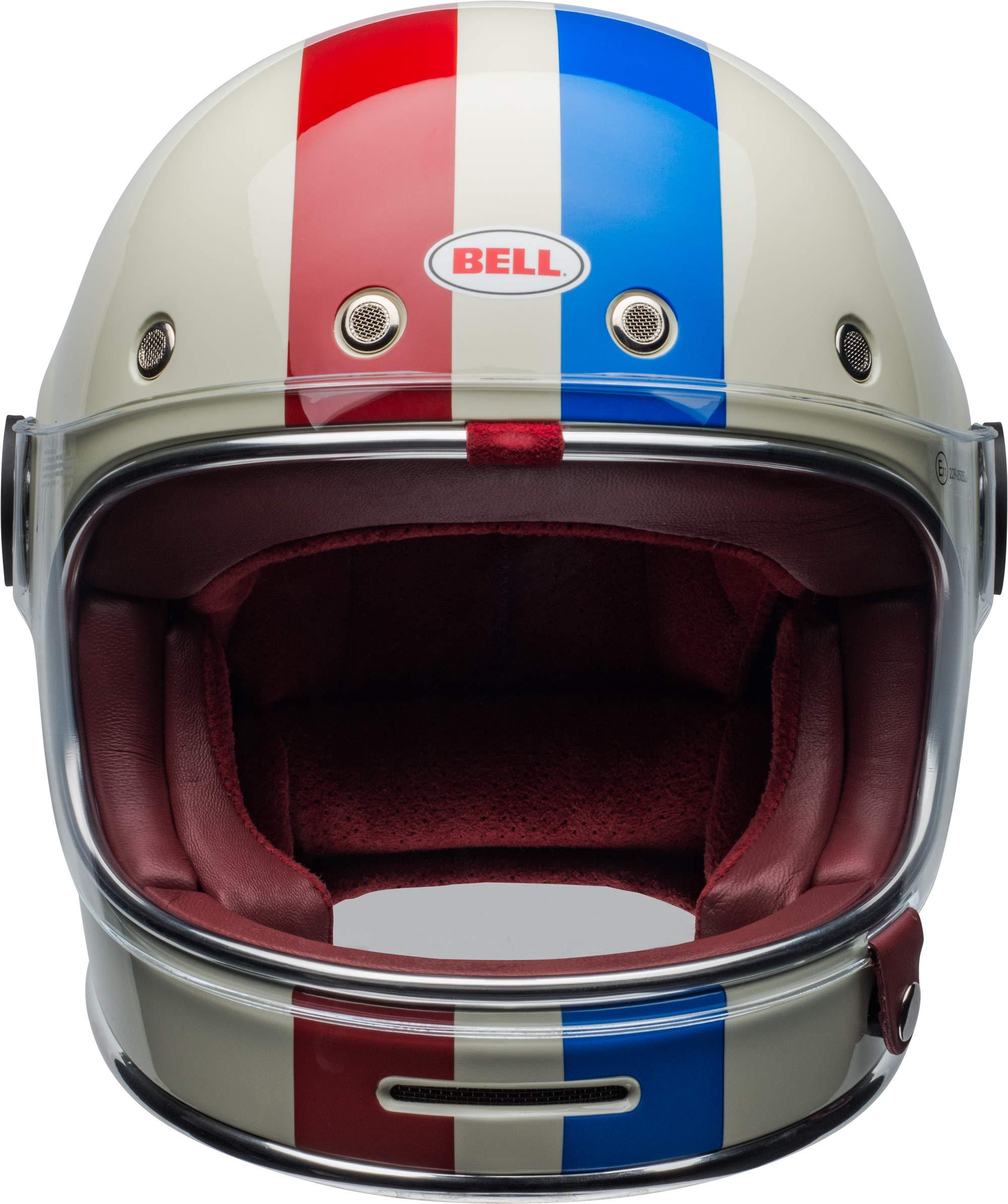 Bell Bullitt Helmet - Command (X-SMALL) (GLOSS VINTAGE WHITE/RED/BLUE) by Bell (Image #8)
