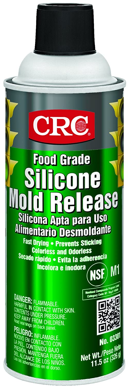 CRC Food Grade Silicone Mold Release, 11.5 Wt Oz, (Pack of 12), 03301CS
