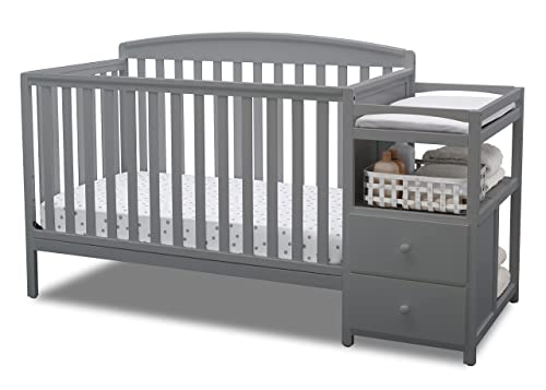 Gray All-In-One Convertible Crib