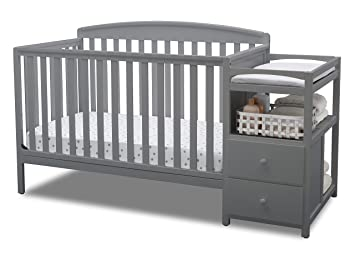 Gray All In One Convertible Crib, Toddler Bed, Daybed, And Changing