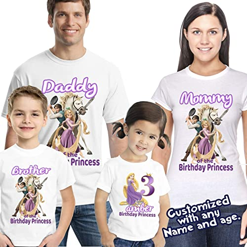 Image Unavailable Not Available For Color Rapunzel Birthday Shirt