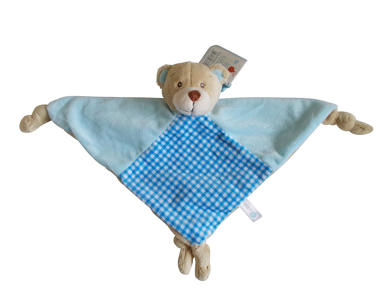 Baby Keel Teddy Bear Luxury Comforter, Rattle, Dou Dou Comfort Blanket (BLUE) Keel Toys
