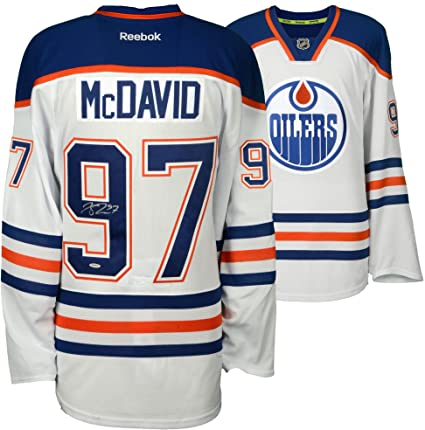 Image Unavailable. Image not available for. Color  Connor McDavid Edmonton  Oilers Autographed White Reebok EDGE Jersey ... e57a39c12