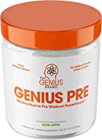 Genius Pre Workout Powder – All Natural Nootropic Preworkout & Caffeine