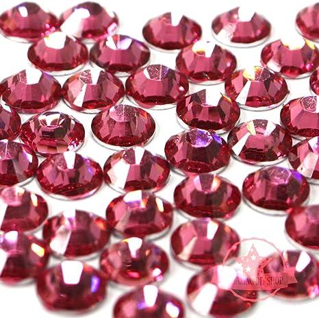 Resin Flatback Rhinestones 14 cut High Quality 2 3 4 5 6 mm Purple Fuchsia