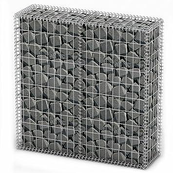 vidaXL Gabion Base pour Mur 100x100x30 cm Clôture de Jardin Panier à ...